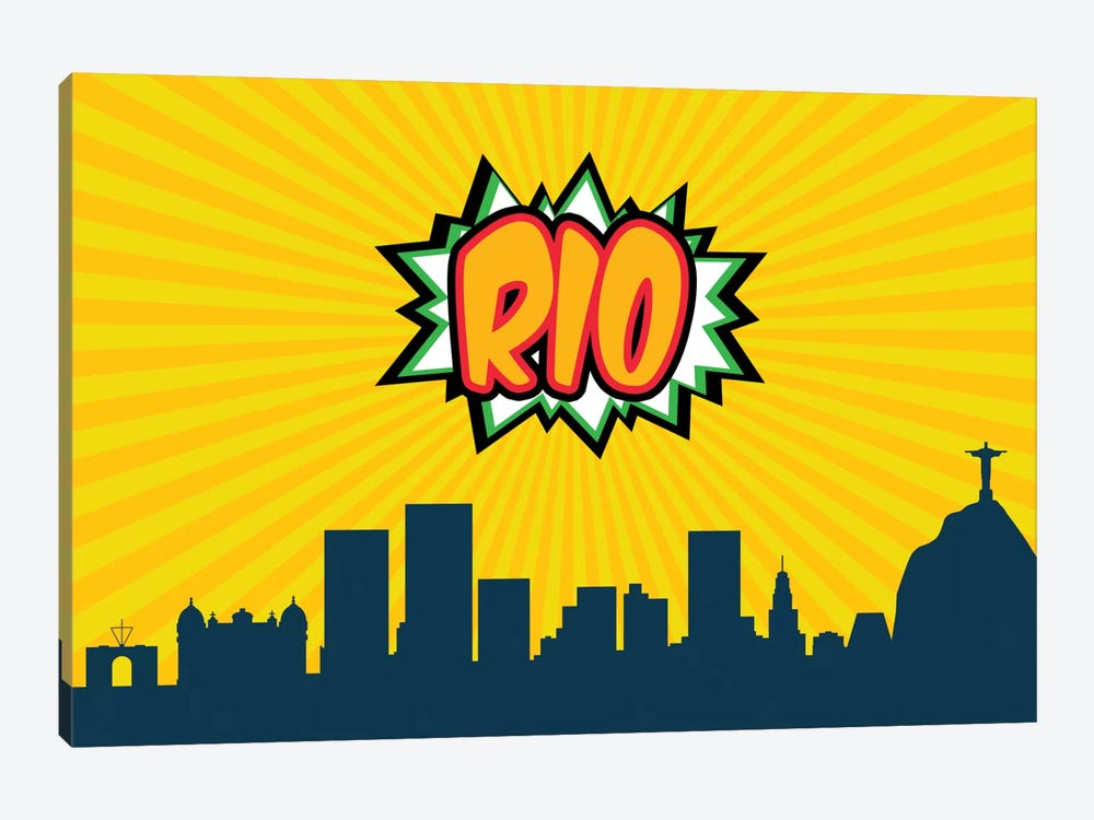 Comic Book Skyline Series: Rio by Octavian Mielu 1-piece Canvas Print
