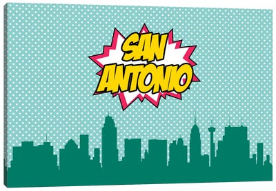 San Antonio Canvas Art Print