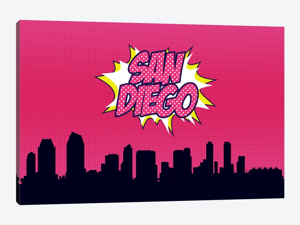 Comic Book Skyline Series: San Diego by Octavian Mielu 1-piece Art Print