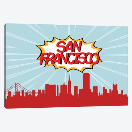 San Francisco Canvas Print #OMU90} by Octavian Mielu Art Print