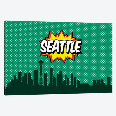 Seattle Canvas Print #OMU91} by Octavian Mielu Canvas Print