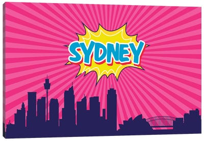 Comic Book Skyline Series: Sidney Canvas Art Print