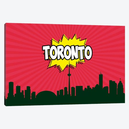 Toronto Canvas Print #OMU95} by Octavian Mielu Canvas Art