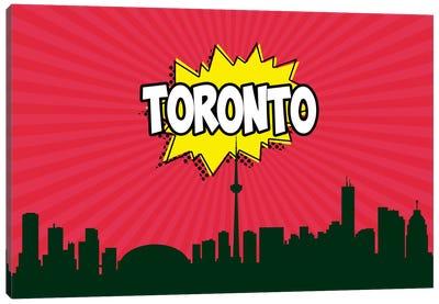 Comic Book Skyline Series: Toronto Canvas Print #OMU95
