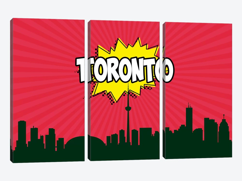 Toronto by Octavian Mielu 3-piece Canvas Wall Art