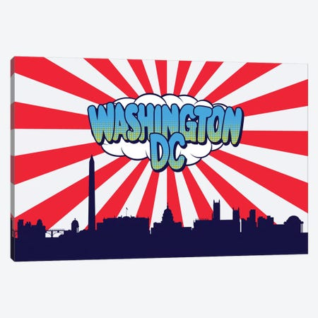 Washington Canvas Print #OMU97} by Octavian Mielu Canvas Wall Art