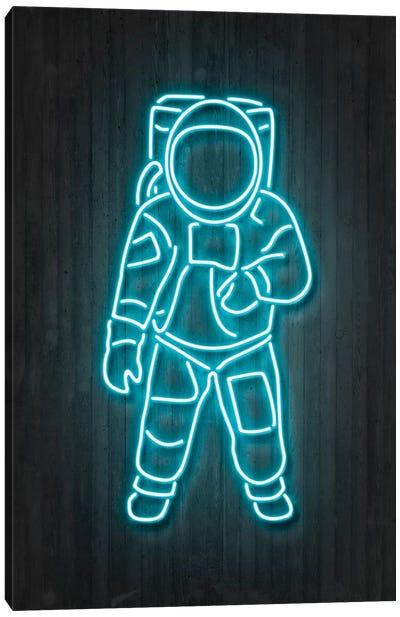 Neon Luminosity Series: Astronaut Canvas Print #OMU98
