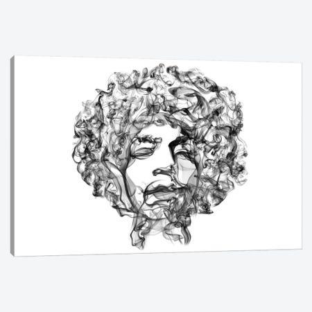 Jimi Hendrix Canvas Print #OMU9} by Octavian Mielu Canvas Artwork