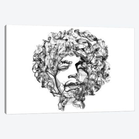 Jimi Hendrix Canvas Print #OMU9} by Octavian Mielu Canvas Artwork