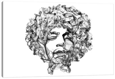 Jimi Hendrix by Octavian Mielu Canvas Artwork