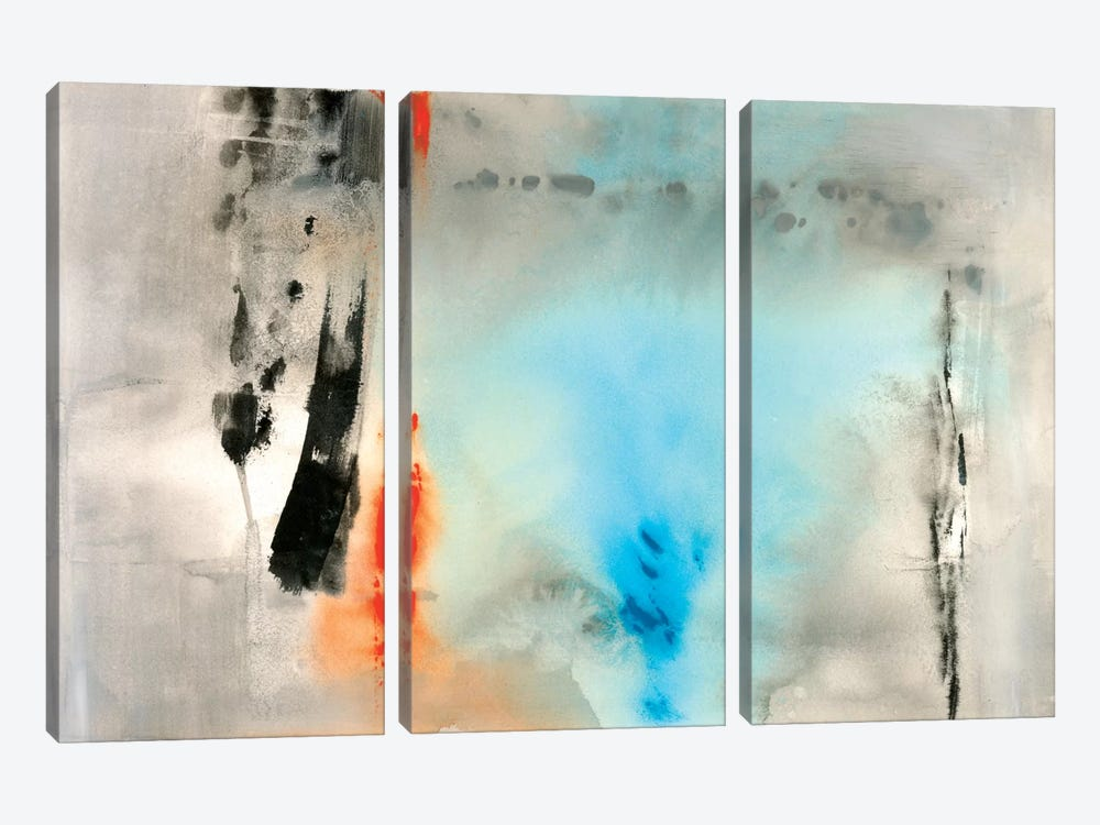 Dusky Turquoise by Michelle Oppenheimer 3-piece Canvas Print