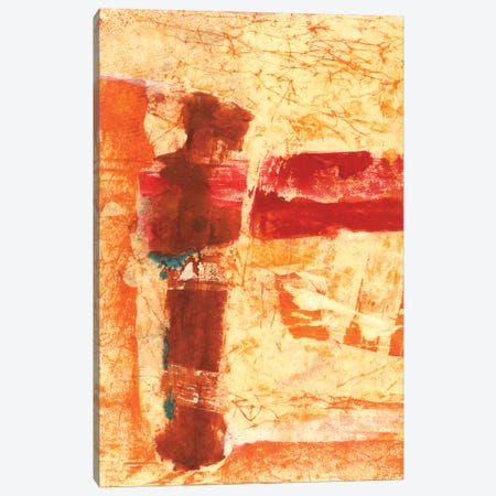 Orange Commotion Canvas Print #OPP58} by Michelle Oppenheimer Canvas Wall Art