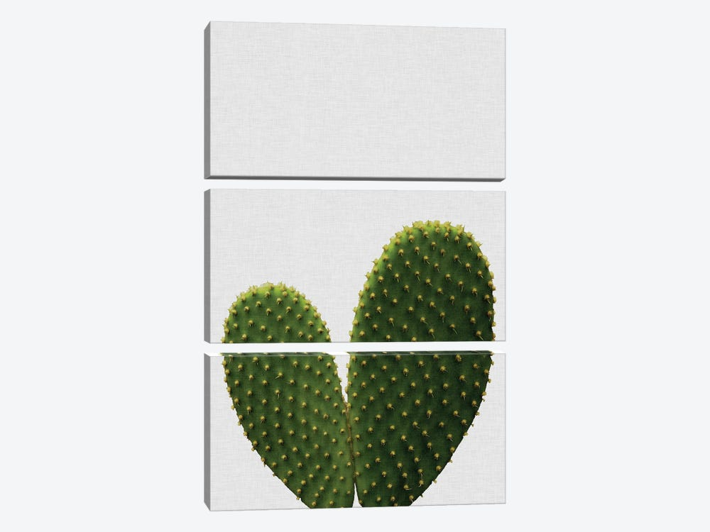 Heart Cactus by Orara Studio 3-piece Canvas Print