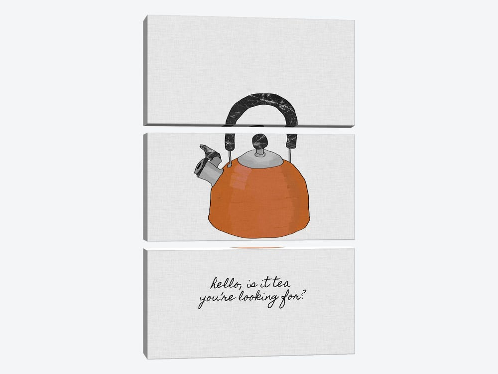 Hello Is It Tea You're Looking For? by Orara Studio 3-piece Canvas Wall Art