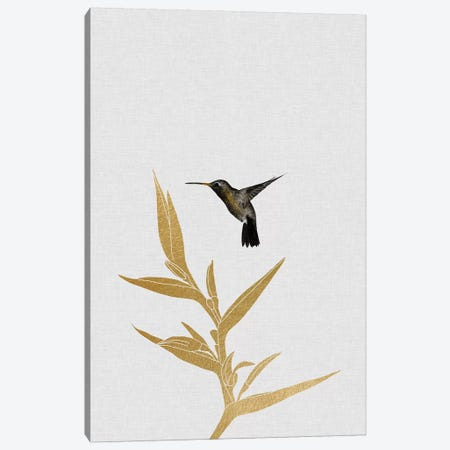 Hummingbird & Flower I Canvas Print #ORA108} by Orara Studio Canvas Wall Art