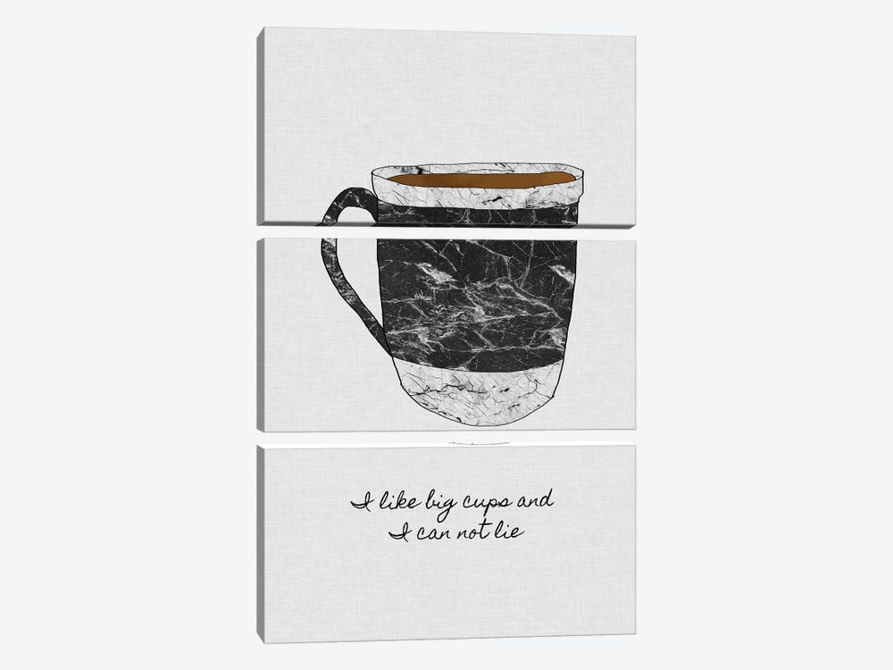 I Like Big Cups 3-piece Canvas Art