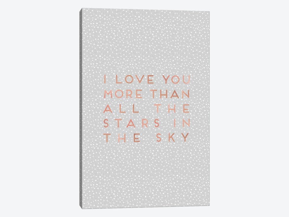 I Love You More Than… 1-piece Canvas Print