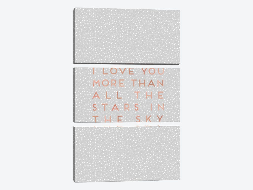 I Love You More Than… 3-piece Canvas Print