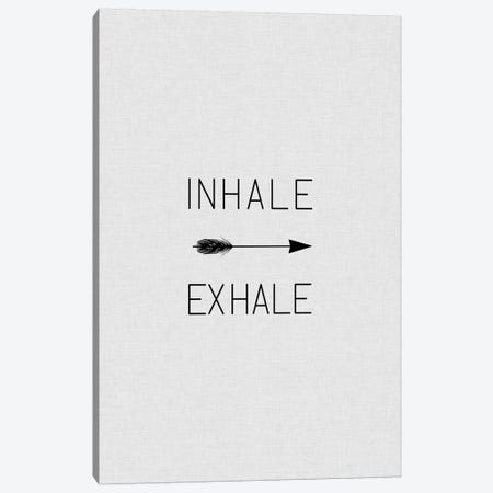 Inhale Exhale Arrow Canvas Print #ORA115} by Orara Studio Canvas Wall Art