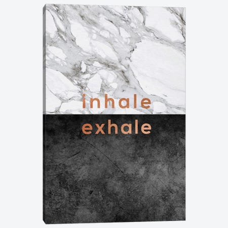 Inhale Exhale Copper Canvas Print #ORA116} by Orara Studio Canvas Wall Art