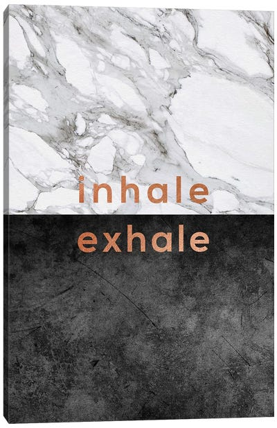 Inhale Exhale Copper Canvas Art Print