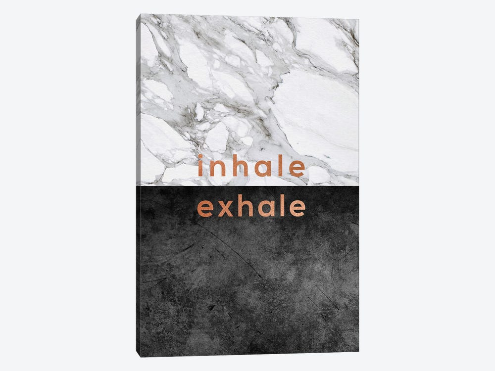 Inhale Exhale Copper 1-piece Canvas Artwork