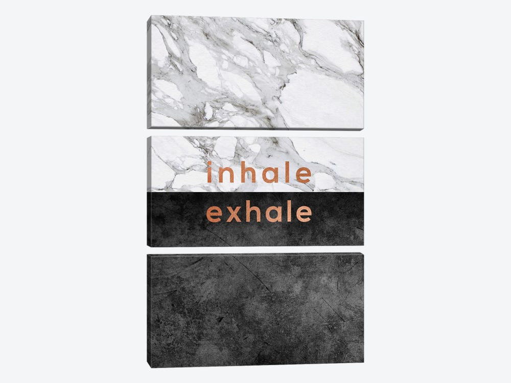 Inhale Exhale Copper 3-piece Canvas Wall Art