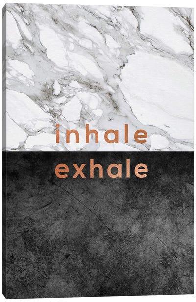 Inhale Exhale Copper Canvas Art Print