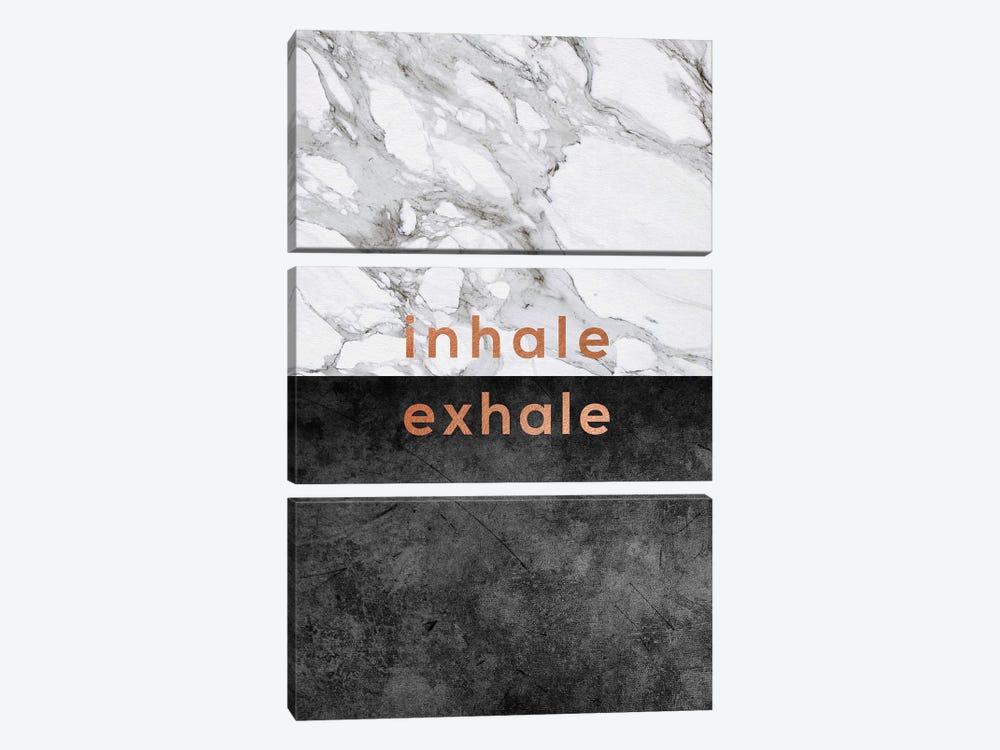 Inhale Exhale Copper by Orara Studio 3-piece Canvas Wall Art