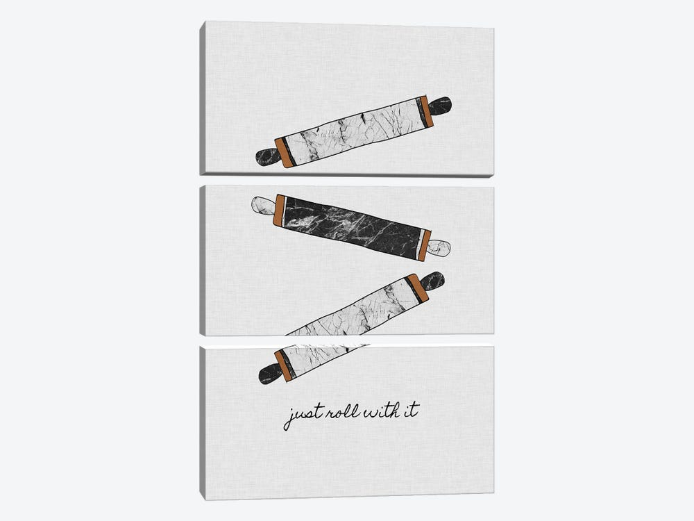 Just Roll With It by Orara Studio 3-piece Canvas Print