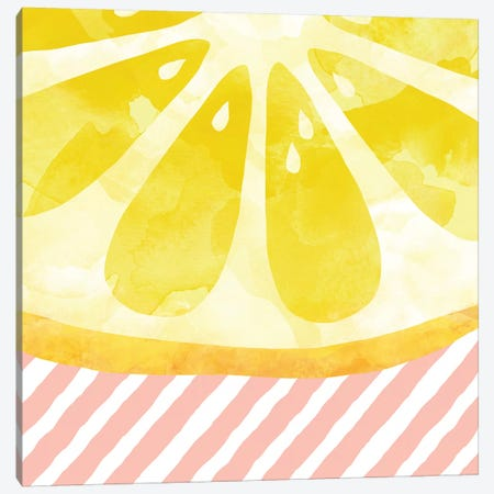 Lemon Abstract Canvas Print #ORA122} by Orara Studio Canvas Art