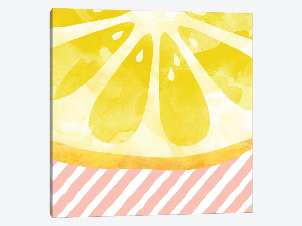 Lemon Abstract Canvas Wall Art by Orara Studio | iCanvas