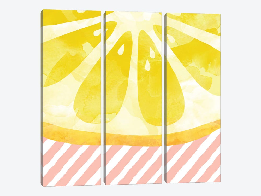 Lemon Abstract by Orara Studio 3-piece Canvas Print