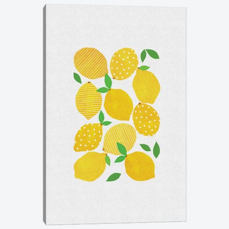 Lemon Crowd Canvas Print #ORA123} by Orara Studio Canvas Art