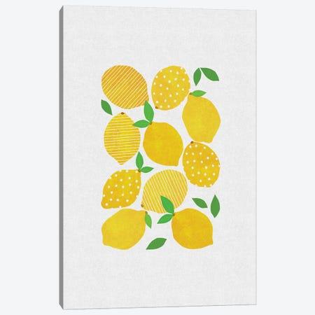 Lemon Crowd Canvas Print #ORA123} by Orara Studio Canvas Art