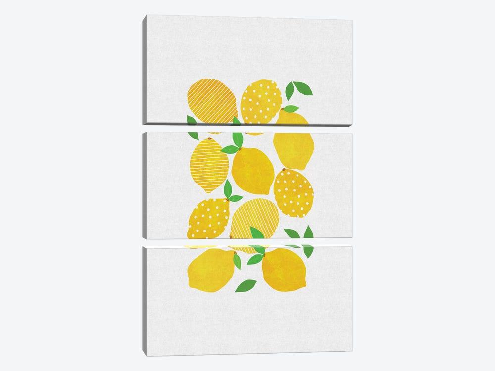 Lemon Crowd by Orara Studio 3-piece Canvas Wall Art