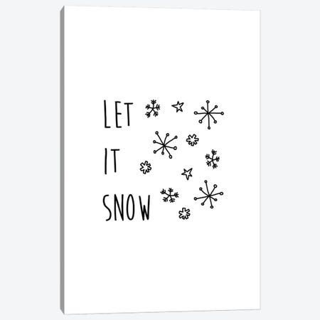 Let It Snow B&W Canvas Print #ORA124} by Orara Studio Canvas Art Print