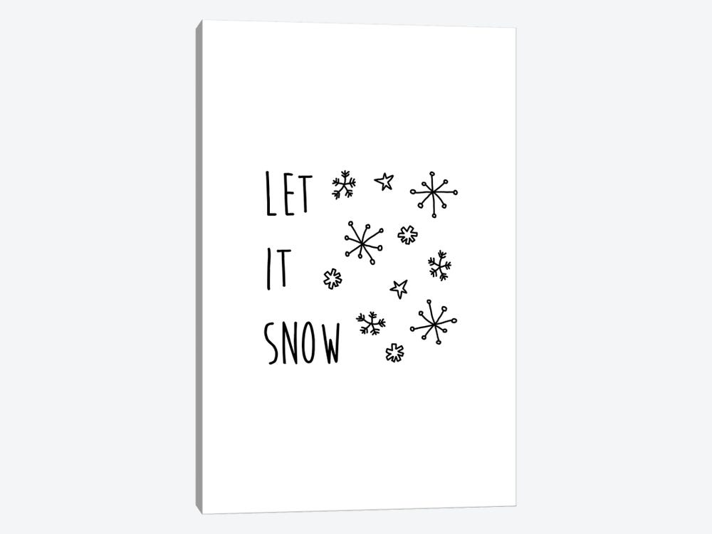 Let It Snow B&W by Orara Studio 1-piece Canvas Art Print