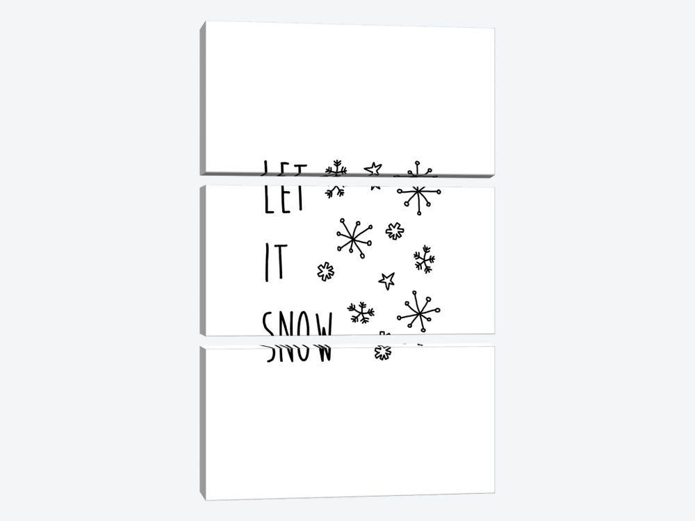 Let It Snow B&W by Orara Studio 3-piece Canvas Art Print