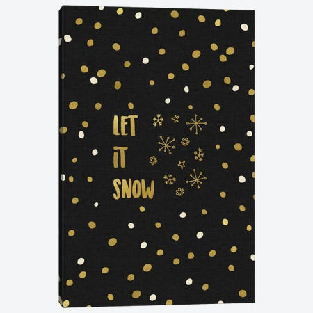 Let It Snow Gold Canvas Print #ORA125} by Orara Studio Canvas Art Print