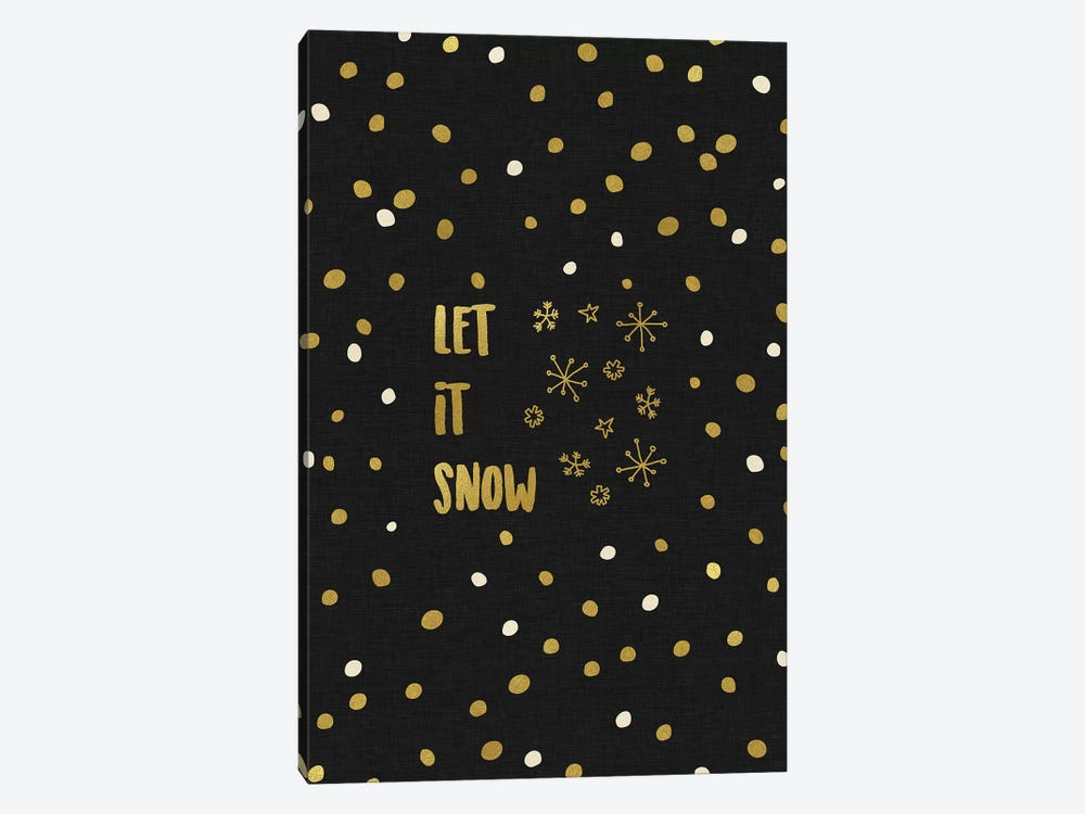Let It Snow Gold by Orara Studio 1-piece Canvas Artwork
