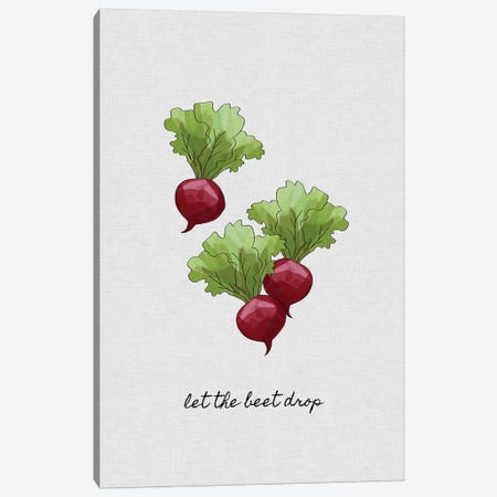 Let The Beet Drop Canvas Print #ORA126} by Orara Studio Canvas Print