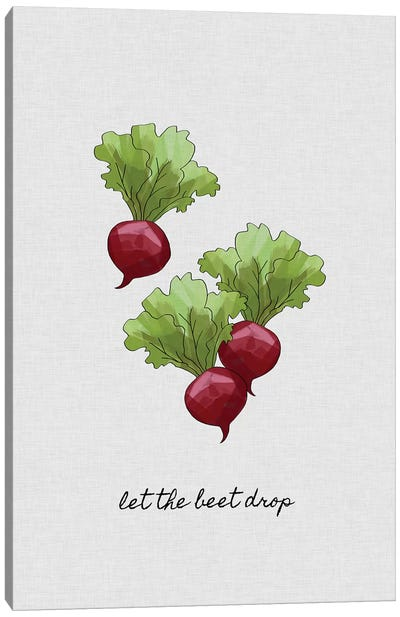 Let The Beet Drop Canvas Art Print