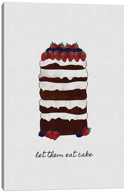 Let Them Eat Cake Canvas Art Print