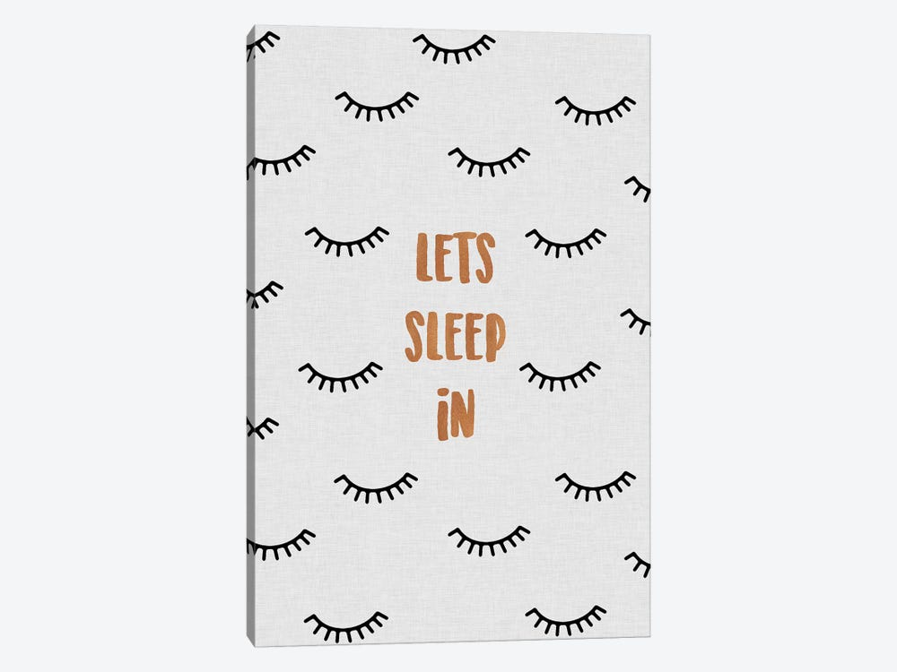 Lets Sleep In 1-piece Canvas Print