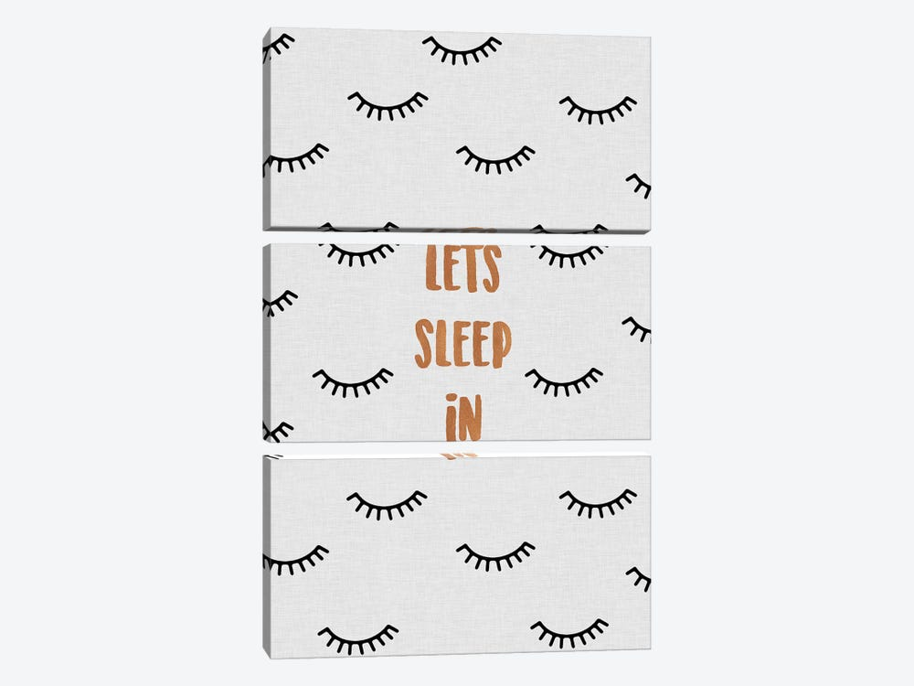 Lets Sleep In 3-piece Canvas Print