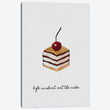 Life Is Short Canvas Print #ORA129} by Orara Studio Canvas Artwork