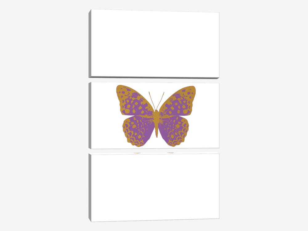 Lilac Butterfly by Orara Studio 3-piece Canvas Artwork