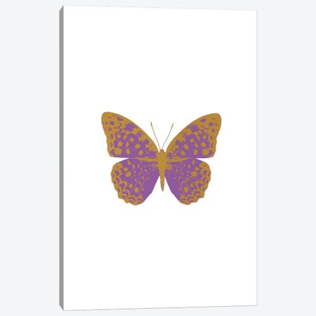 Lilac Butterfly Canvas Print #ORA130} by Orara Studio Canvas Art Print