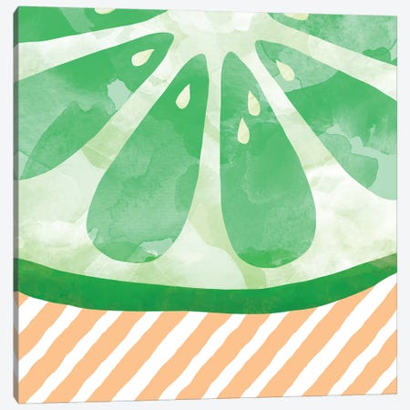 Lime Abstract Canvas Print #ORA131} by Orara Studio Art Print